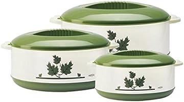 Milton Orchid Junior Insulated Casserole Set, 3-Pieces, Green (EC-THF-FTK-0016_Green)