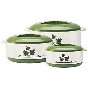 Milton Orchid Jr. Inner Steel Casserole Gift Set of 3, Green