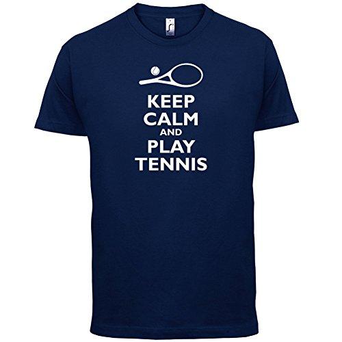 Keep Calm and Play Tennis - Herren T-Shirt - 13 Farben Navy