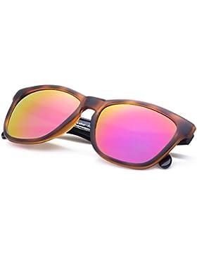 COLOSSEIN Gli uomini classici / occhiali da sole di piazza con specchio lenti UV400 Protect