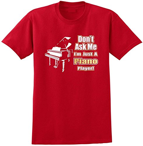 Piano Dont Ask Me - Red Rot T Shirt Größe 87cm 36in Small MusicaliTee (Wurlitzer Electric Piano)
