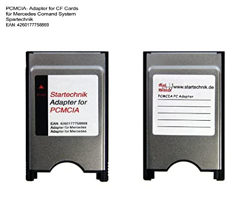 PCMCIA Compact Flash Card Adaptor for Mercedes COMAND APS systems (S E C GLK Class)- with PCMCIA Slot