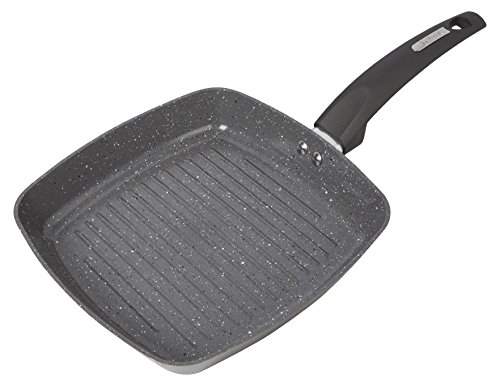 Tower Cerastone Forged Grill Pan with Non-Stick Inner Coating, Easy Clean, Ceramic, Graphite, 25 cm