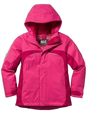 Jack Wolfskin Mädchen Jacke Topaz Texapore Jkt G, Pink Raspberry, 176, 1604772-2045176