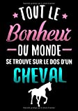Tout Le Bonheur du Monde se trouve sur le Dos d'un Cheval: Journal d'équitation pour Jeunes Cavalières (7-10 ans) | Cadeau amoureuse des Chevaux | Carnet Petit Format (7x10 inches, 127 pages)