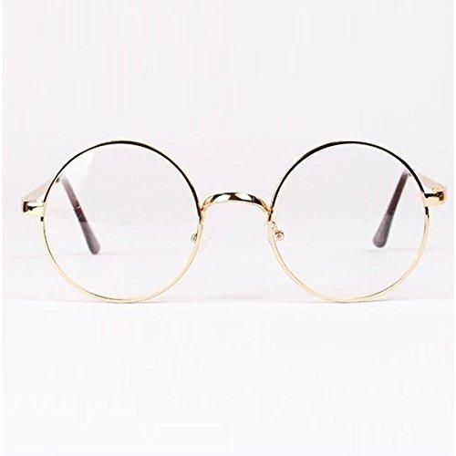 duojincai Unisex Retro Rahmen rund Metall Schutzbrille Schutzbrille Geek Gläser Uni, 6Stück gold