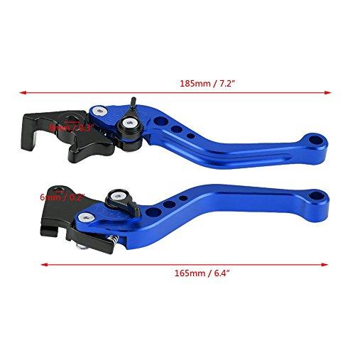 "Duokon Bremshebel Motorrad, 1 Paar 22mm 7/8\""CNC Aluminium Motorrad Kupplungshebel Bremshebel Universalbremshebelgriff(Blau)"