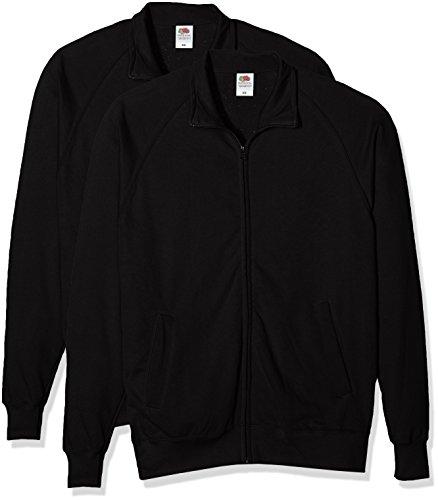 Fruit of the Loom Herren Sweatshirt Lightweight Sweat Jacket Schwarz (Black 101)