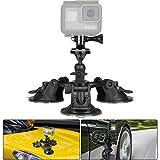 Soporte Ventosa Coche para GoPro Hero 7 6 5 4 3 2 y Otras Acci/ón C/ámaras Brazo Corto + Brazo Largo + Adaptador de 1//4-20 EXSHOW Soporte para GoPro C/ámara