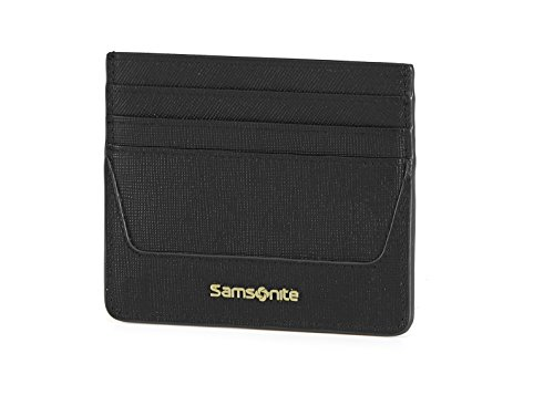 Samsonite Lady Saffiano Ii Slg Billfold 6cc Holder Monedero, 10 cm, Negro Samsonite