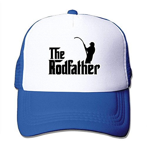 The Rodfather Funny Fishing Trucker Mesh Hat Adjustable Fashion Caps