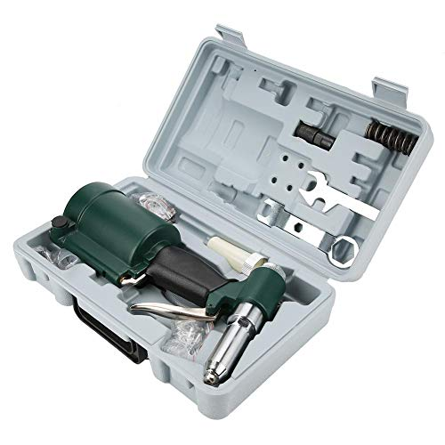 Semme Kit de Pistolet à Riveter à air, Outil Professionnel pneumatique pour air/hydraulique Pistolet à air, Ensemble de Pistolet à Rivet hydraulique pour air Industriel