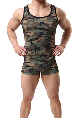 ONEFIT Herren Tanktop Junle Camouflage - Mehrfarbig - Klein