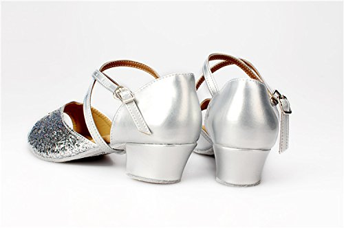 Miyoopark ,  Damen Tanzschuhe Silver-3.5cm Heel