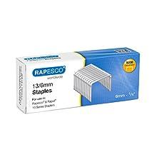 Rapesco S13060Z3 Galvanised Staples 13/6 mm - Box of 5,000 - Stainless Steel