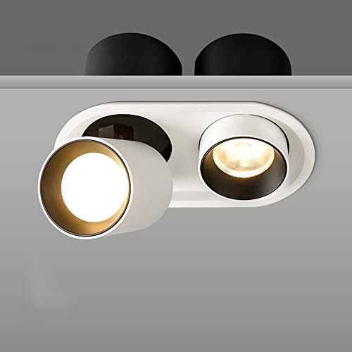 Focos de 12W LED Luces Dobles de Alto Brillo Techo Downlight Moderno...