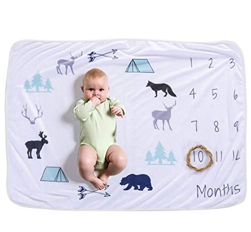 Happy Cherry Baby Neugeborenes Fotografie-Decke Requisiten Gedruckt Monatliche Meilenstein Wrap Swaddle Decken