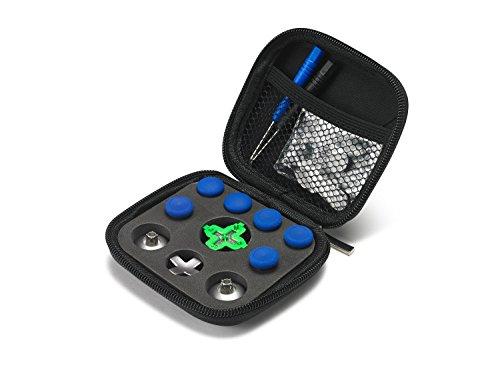 Supremery Xbox One Elite Sticks Paddles Zubehör aus Aluminium - 15 Teiliges Set/Blau
