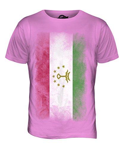 CandyMix Tadschikistan Verblichen Flagge Herren T Shirt Rosa