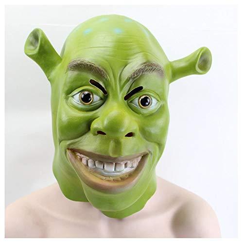 Cos Latex Hood Halloween Kleid Maske Herren Kostümfest Requisiten,Green Shrek-one Size