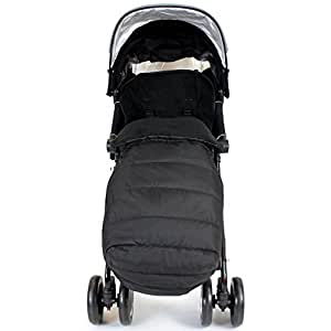 XXL Large Luxury Foot-muff And Liner For Maclaren Techno XT - Black (Black)