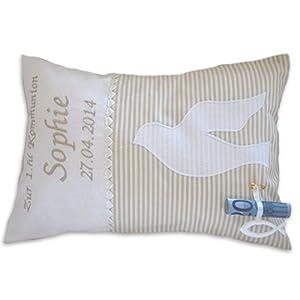 Kommunionsgeschenk personalisiertes Kissen als Geldgeschenk