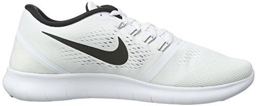 Nike Free Rn, Scarpe da Corsa Uomo Bianco (White/Black)