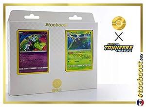 Meloetta 104/214 Y Papinox (Dustox) 28/214 - #tooboost X Soleil & Lune 8 Tonnerre Perdu - Box de 10 Cartas Pokémon Francés + 1 Goodie Pokémon