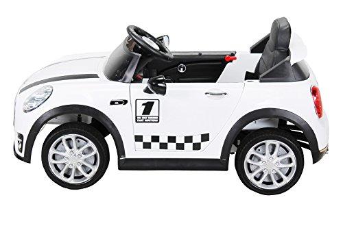 RC Auto kaufen Kinderauto Bild 5: Actionbikes Motors Kinder Elektroauto Mini Cooper Eva Reifen Ledersitz Kinderfahrzeug Kinderauto in vielen Farben (Weiß)*