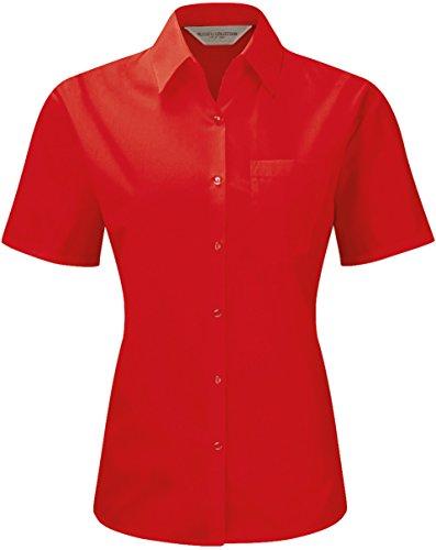 russell-collection-pflegeleichte-kurzarm-popeline-bluse-aus-baumwollmischgewebe-r-935f-0-3xlclassic-