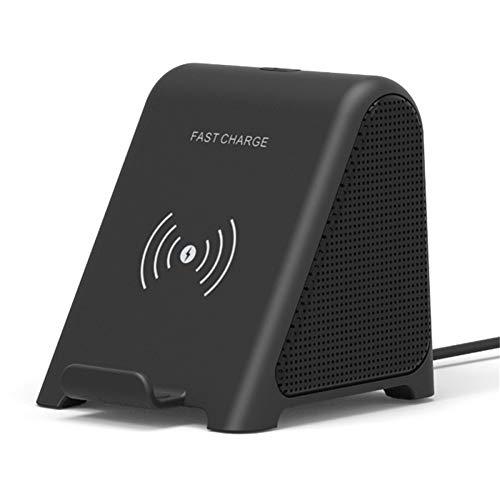 YSCYLY 2 In 1 Wireless-Ladegerät Bluetooth-Lautsprecher Stereo Mini Portable Desktop Dual Units Lautsprecher Portable Docking