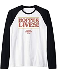 Netflix Stranger Things 4 Hopper Lives Logo Camiseta Manga Raglan