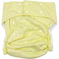 lukloy Mujer Adultos pañales para incontinencia cuidado ropa interior de protección–doble apertura bolsillo ajustable lavable reutilizable leakfree