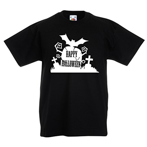 Kinder T-Shirt Halloween Graveyard Outifts - Costume Ideas - Cool Horror Design (14-15 years Schwarz (Superhelden Kostüme Teenager Mädchen Halloween)