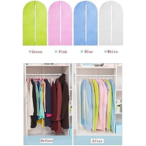 Highdas Facile Organizza panno borsa da viaggio trasparente zip del vestito borse cerniera indumento copriabiti, di piccola dimensione 60 * 90 cm (23.6 * 36.4 inch), Bianco, confezione da 20