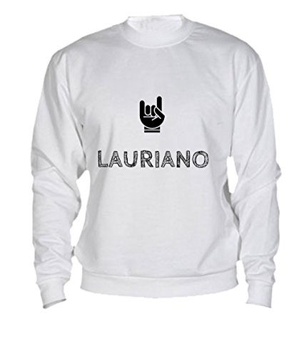 Felpa Lauriano - Print Your Name White