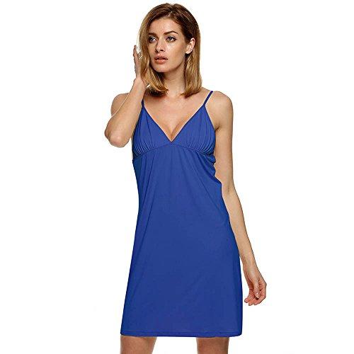 MEXI - Chemise de nuit - Femme Bleu