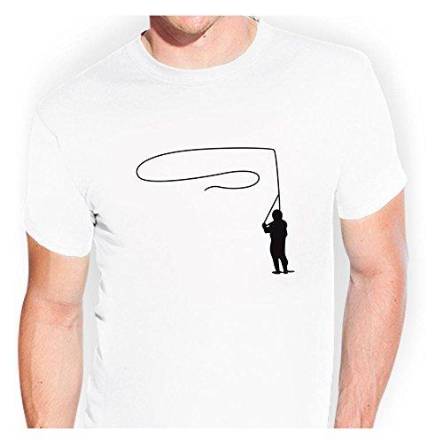 KIWISTAR - Fliegen Fischen Fish Fly T-Shirt verschiedenen Farben Sticker Funshirt witzig (Fliegen-fischen-shirt)