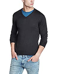 Wrangler Mens Fit Sweater (8907649215616_W248565DH44C_L_Dk Olive)