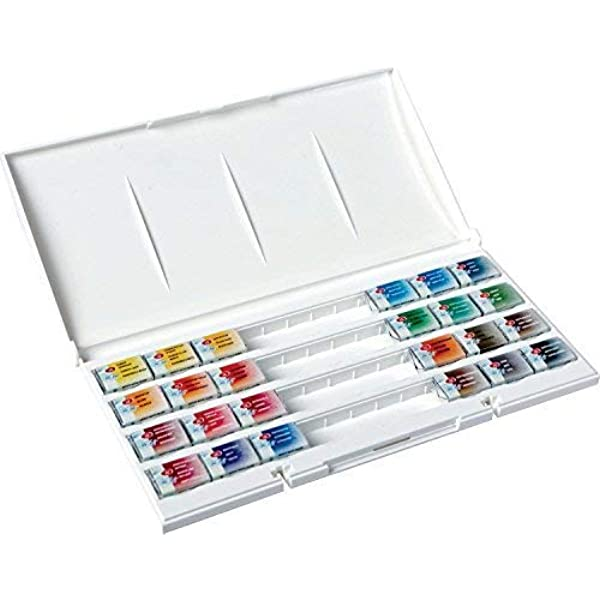 St.Petersburg Russia 24 pans White Nights Watercolor paint set