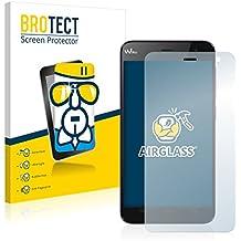 BROTECT AirGlass Protector Pantalla Cristal Flexible Transparente para Wiko Bloom Protector Cristal Vidrio - Extra-Duro, Ultra-Ligero, Ultra-Claro