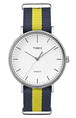 Timex Unisex Datum klassisch Quarz Uhr mit Nylon Armband TW2P90900