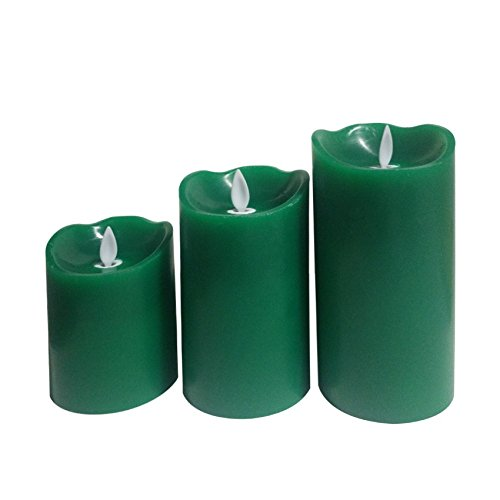 Pack de 3 Velas LED Color Verde Special Flame Verde efectoLED