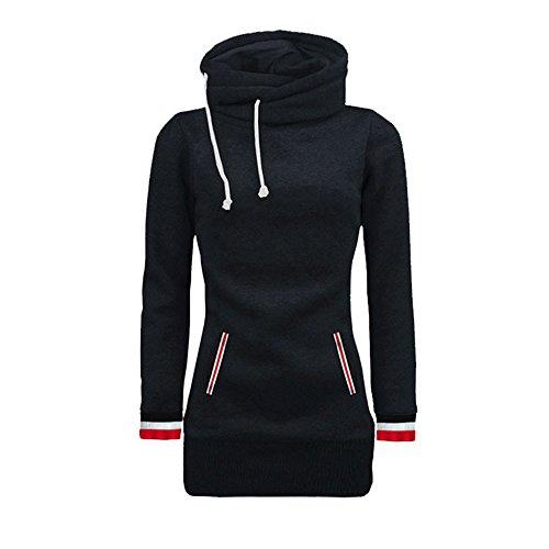 Frauen Langarm Kapuzenpullis Damen Hoodies Langarm Kapuzenpulli Sweatshirt Pullover Tops Bluse MYMYG...