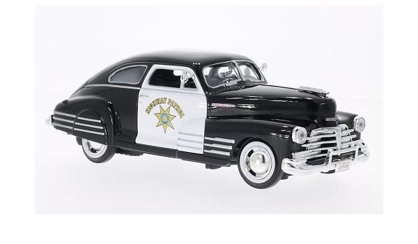 Chevrolet Aerose Dan Fleet Line California Highway Patrol Police Usa 1948 Model Car Ready Made Motor Max 1 24 Spielzeug