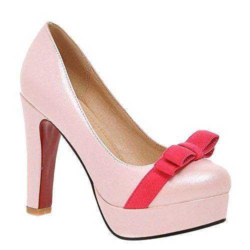 MissSaSa Donna Scarpe col Tacco Alto Pumps Dolce e Elegante Rosa