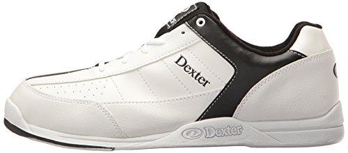 Dexter Ricky III - Scarpe da bowling per uomo Bianco - bianco/nero