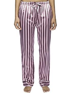 Noble Mount Classico Pantaloni Pigiama in Raso da Donna