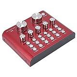 Mugast Mini Table de Mixage USB Console Mixage Audio Numérique Carte Son pour Ordinateur Portable/PC/Microphone Karaoké