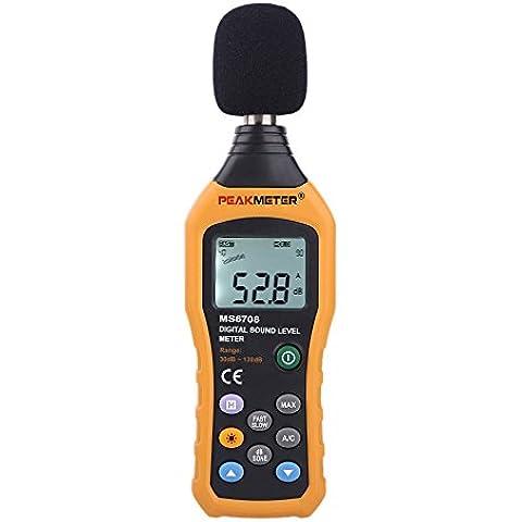 douself HYELEC MS6708 Digitale Metro del livellodel suono dB misura del metro 30 dB a 130 dB
